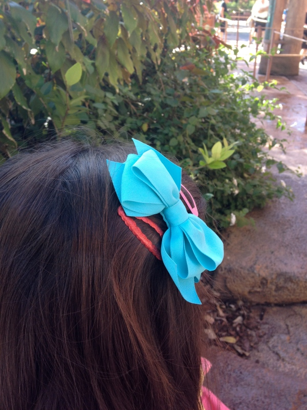 This blue bow was worn proudly :)