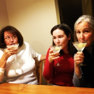 post-skiing martinis with family