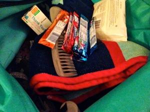 My swim bag, loaded with sugar