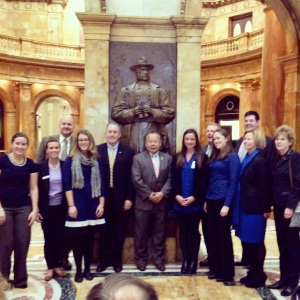 Representing JDRF Bay State YLC with the MA state legislators