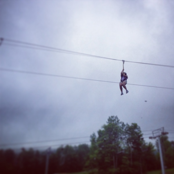 I went ziplining for the first time, and I likely will never do it again.