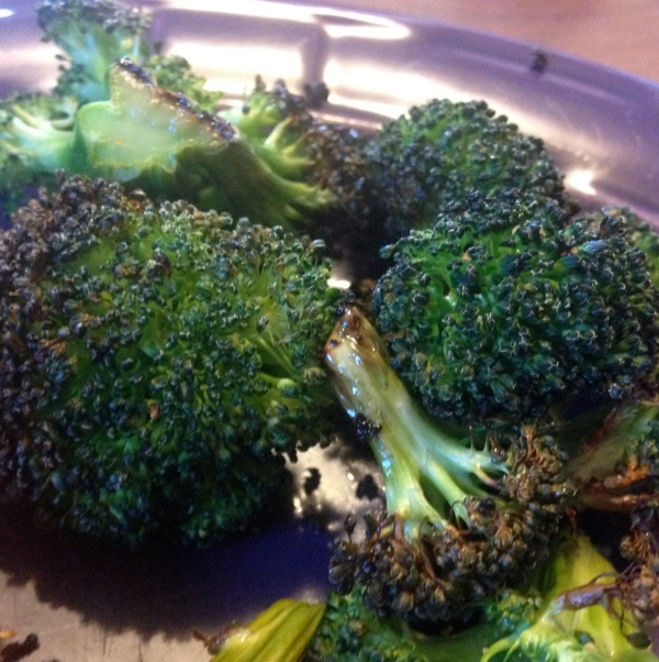 My new favorite dinner vegetable is baked broccoli.