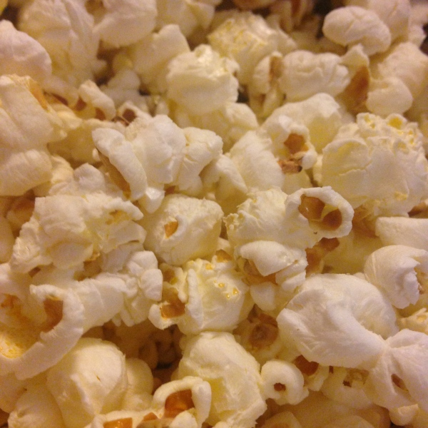 Sometimes I get hungry after dinner and popcorn is my snack of choice.